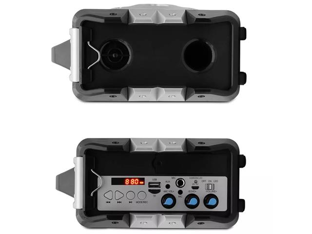 Caixa de Som Portátil Lenoxx Music Wave MP3 USB FM Bluetooth Karaokê - 2