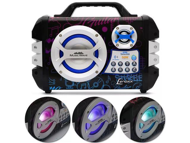 Caixa de Som Portátil Lenoxx Music Wave MP3 USB FM Bluetooth Karaokê - 3