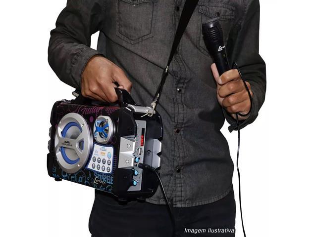 Caixa de Som Portátil Lenoxx Music Wave MP3 USB FM Bluetooth Karaokê - 4
