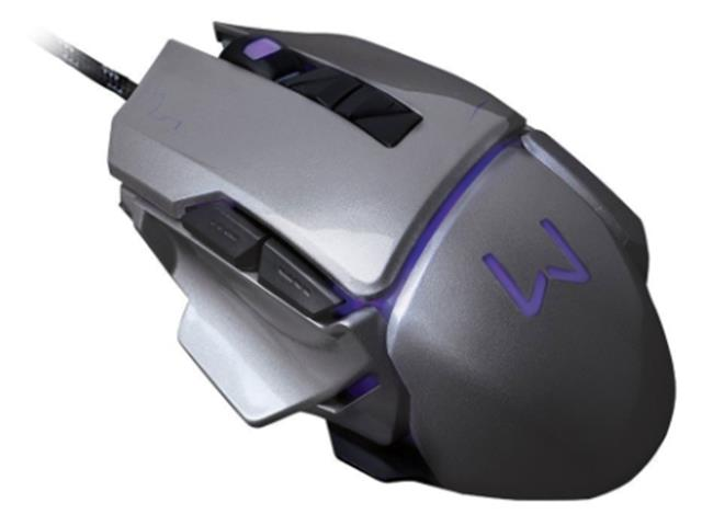 Mouse Gamer Multilaser USB 3200 DPI Warrior Grafite - 1