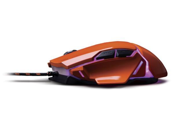 Mouse Gamer Multilaser USB 3200 DPI Warrior Laranja - 2