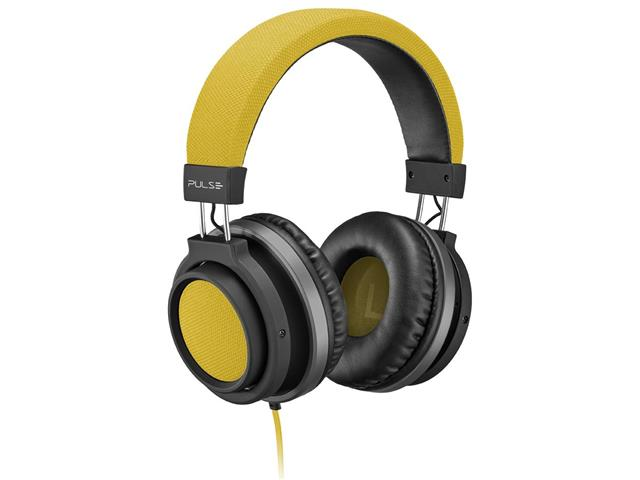Fone de Ouvido Pulse Multilaser Headphone Large P2 Amarelo