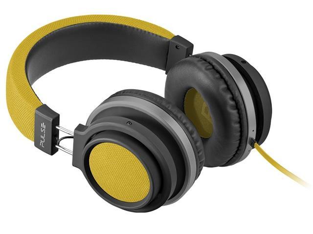 Fone de Ouvido Pulse Multilaser Headphone Large P2 Amarelo - 3