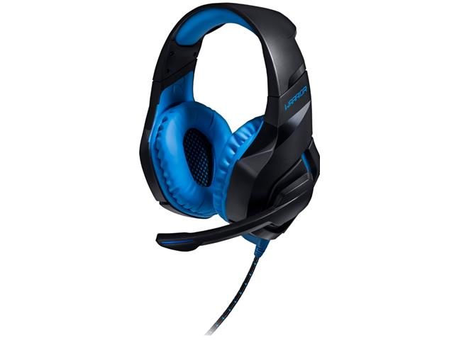 Headset Gamer Warrior 2.0 Multilaser com LED USB Preto e Azul