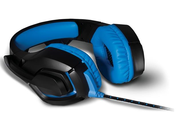 Headset Gamer Warrior 2.0 Multilaser com LED USB Preto e Azul - 4