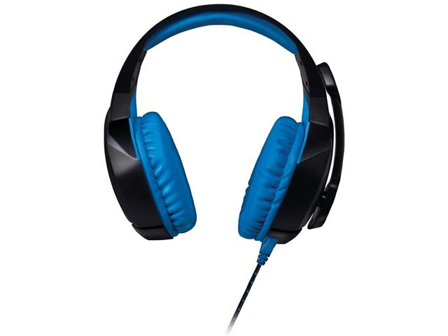 Headset Gamer Warrior 2.0 Multilaser com LED USB Preto e Azul - 2
