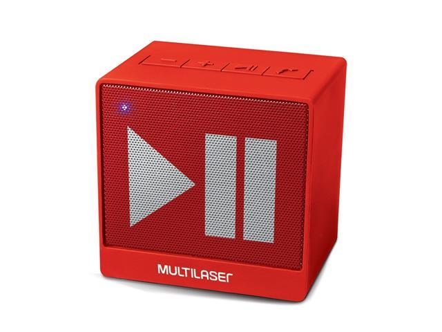Mini Caixa de Som Bluetooth Multilaser Pulse SP279 8W RMS Vermelho - 1