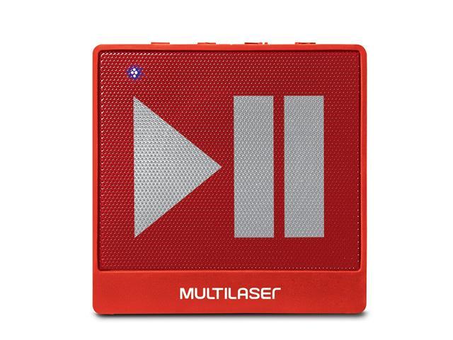 Mini Caixa de Som Bluetooth Multilaser Pulse SP279 8W RMS Vermelho