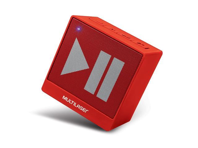 Mini Caixa de Som Bluetooth Multilaser Pulse SP279 8W RMS Vermelho - 2