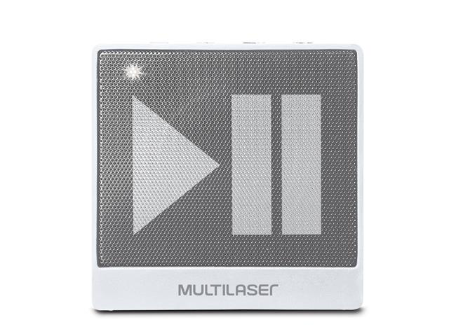 Mini Caixa de Som Bluetooth Multilaser Pulse SP278 8W RMS Branca