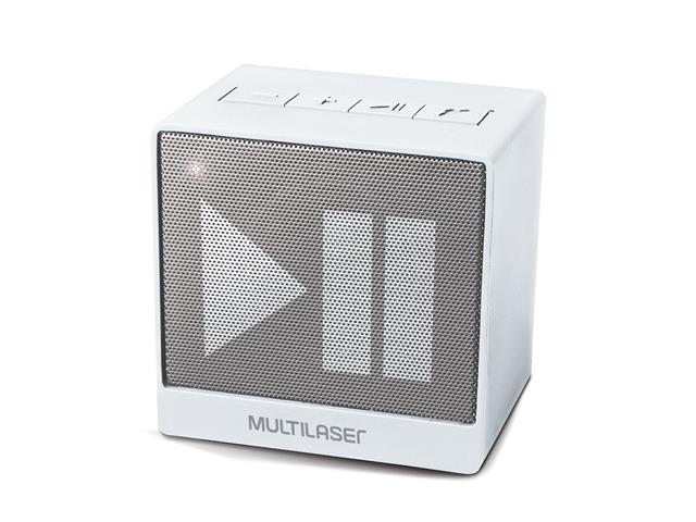 Mini Caixa de Som Bluetooth Multilaser Pulse SP278 8W RMS Branca - 1