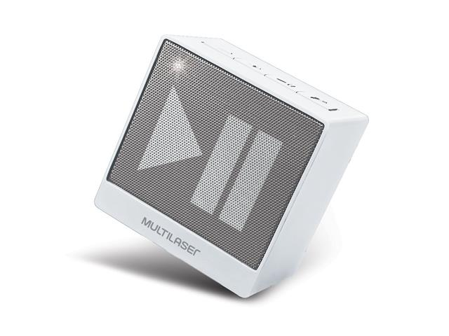 Mini Caixa de Som Bluetooth Multilaser Pulse SP278 8W RMS Branca - 2