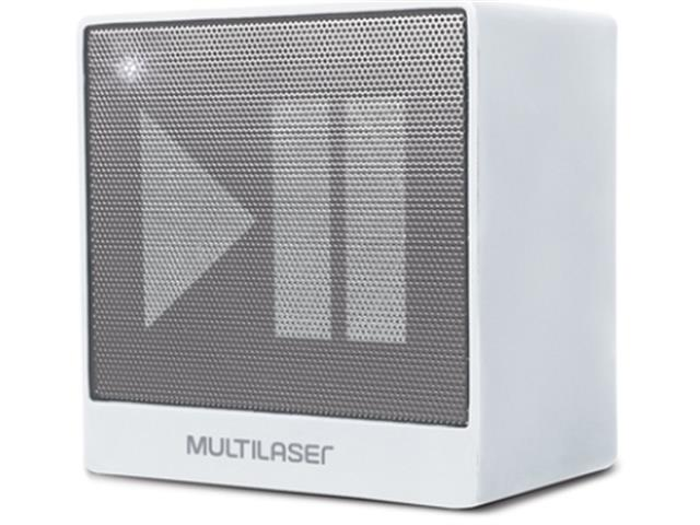 Mini Caixa de Som Bluetooth Multilaser Pulse SP278 8W RMS Branca - 3
