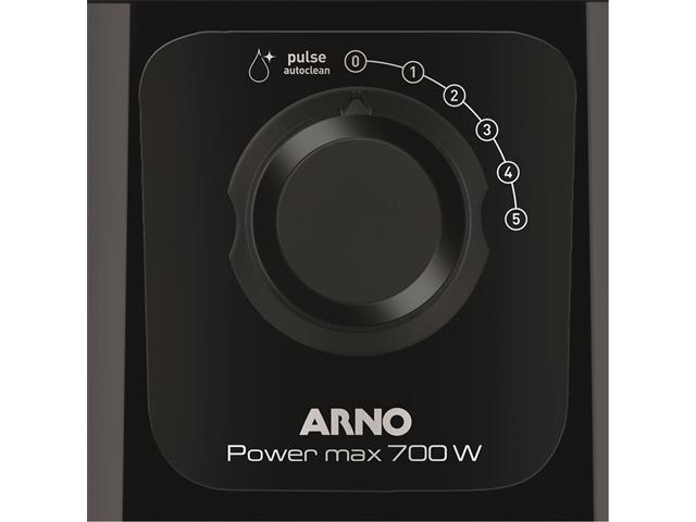 Liquidificador Arno Power Max com 5 Velocidades 700W Preto - 3