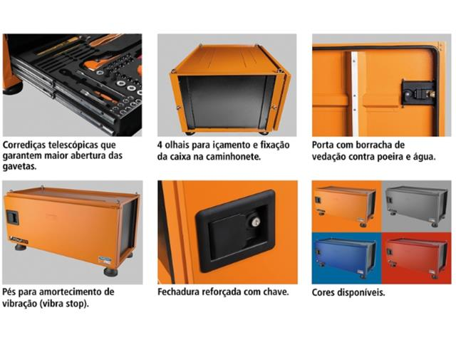 Caixa para Ferramentas Tramontina PRO Pickup Box 84x100x50 cm Laranja - 4