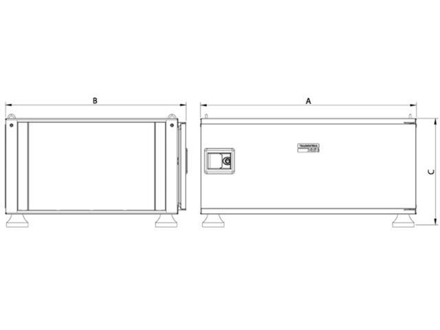 Caixa para Ferramentas Tramontina PRO Pickup Box 84x100x50 cm Laranja - 5