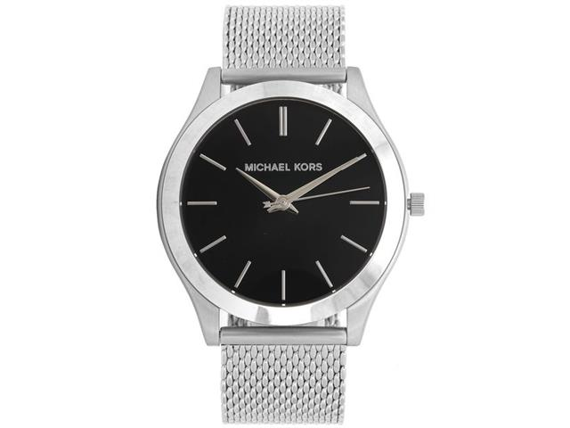 2f6f9993e0f ... Relógio Michael Kors Feminino Essential Slim Runway Prata MK8606 1KN -  ...