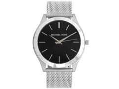 70a9c321fb5 Relógio Michael Kors Feminino Essential Slim Runway Prata MK8606 1KN