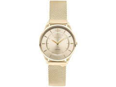 2edda3abc26b8 Relógio Technos Dourado Masculino Classic Slim 9T22AK 4X
