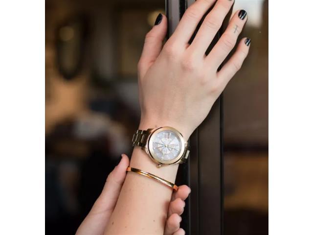 c4a78180acb1f Relógio Technos Feminino Essence Dourado F03101AA K4W - Shopping ...