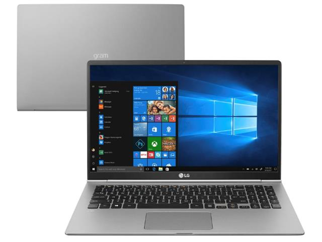 "Notebook LG Gram Intel Core 8ª i7 8GB RAM 256GB SSD FHD 15,6"" Prata - 0"