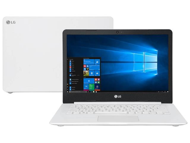 "Notebook Ultra Slim LG LED 14"" Intel® Celeron® 4GB 500GB W10 Branco - 0"