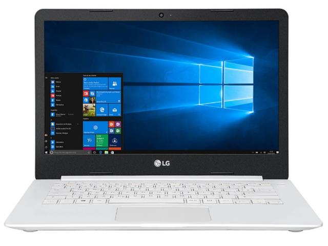 "Notebook Ultra Slim LG LED 14"" Intel® Celeron® 4GB 500GB W10 Branco - 1"