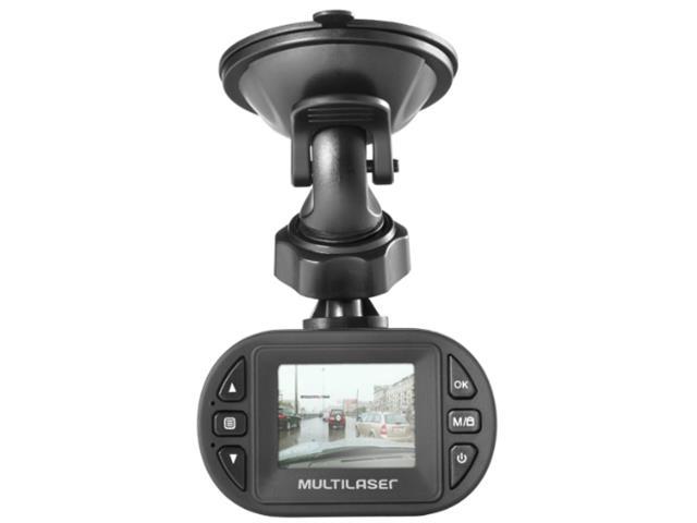 Câmera Automotiva Veicular Filmadora Multilaser Full HD 1080p Preta