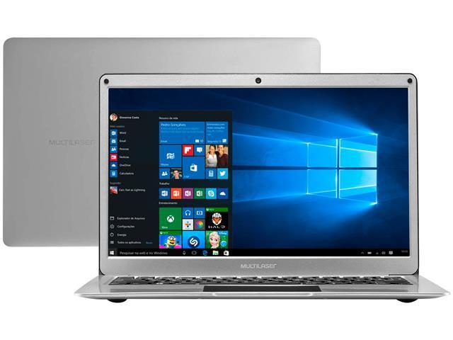 """Notebook Multilaser Legacy Air 4GB - SSD 32GB 13,3"""" Prata"""