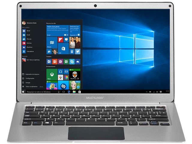"""Notebook Multilaser Legacy Air 4GB - SSD 32GB 13,3"""" Prata - 2"""