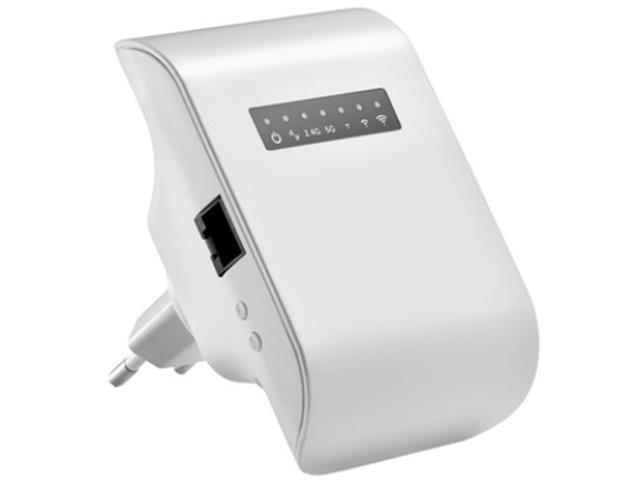 Repetidor Multilaser AC750 Mbps Dual Band Branco Bivolt