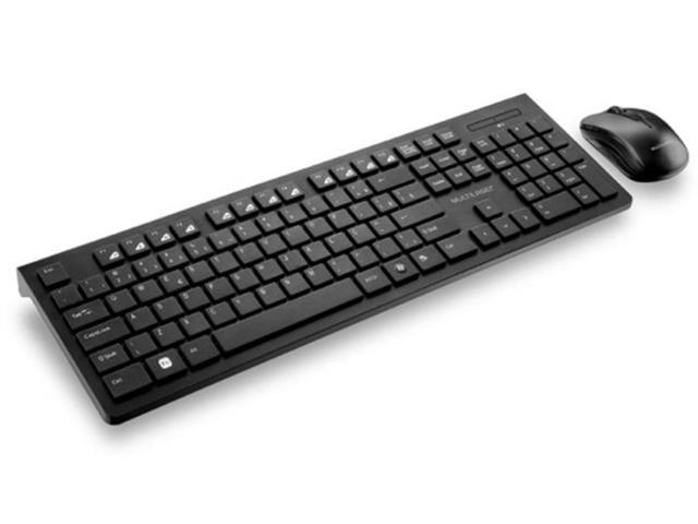 Kit Teclado e Mouse S/Fio De Entrada Multimídia Multilaser USB Preto