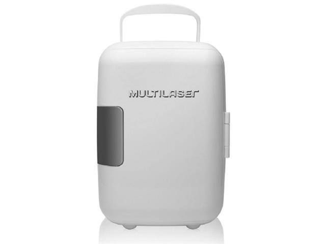 Mini Geladeira Multilaser 4L 6 Latas de 350ML Cabo DC Branca 12V 110V