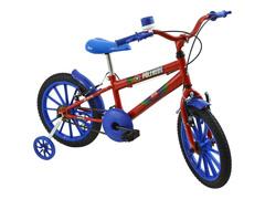 Bicicleta Infantil Polimet Masculina Aro 16 PoliKids Vermelha