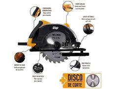 """Serra Circular WAP ESC1400 7 ¼"""" 1400W 110V - 4"""
