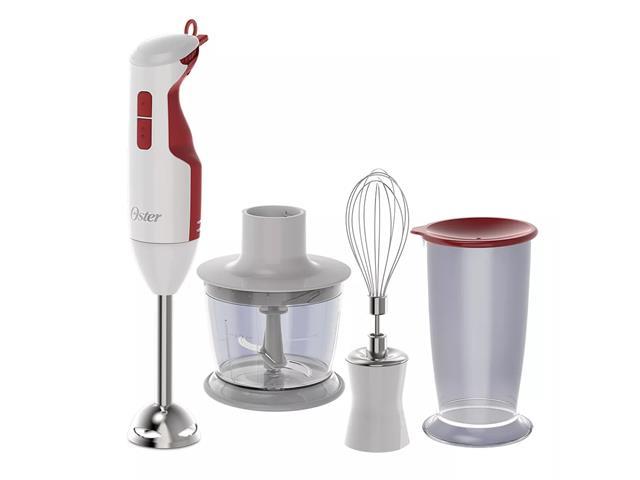 Mixer Oster Delight Função Turbo Branco/Vermelho 3 em 1
