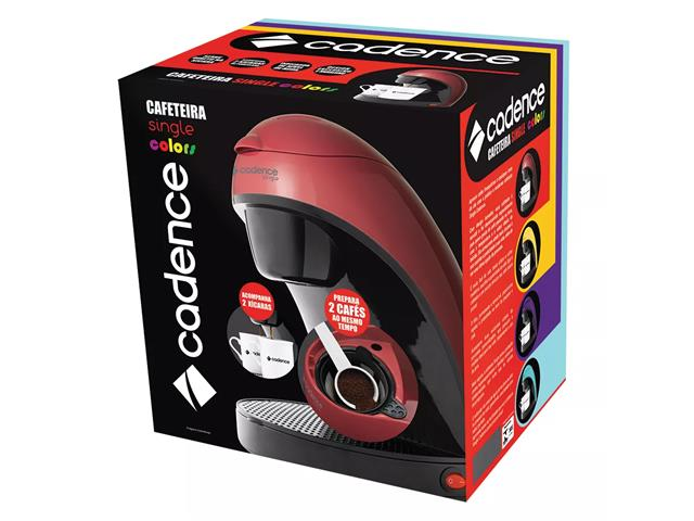 Cafeteira Single Cadence Colors Vermelha 110V - 5
