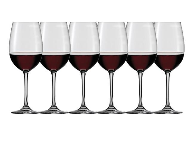 Kit Taças para Vinho Tinto Oxford Cristal 380 ml 6 unidades - 1