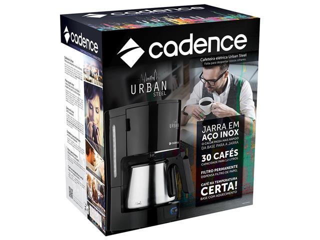 Cafeteira Elétrica Cadence Urban Steel - 220V - 5