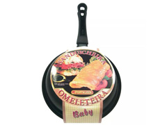 Omeleteira Baby Fortaleza Preta 14 cm - 1