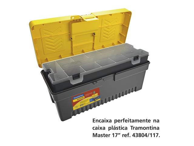 Caixa Plástica Tramontina para Ferramentas 16 Pol. C/Bandeja Removível - 2