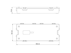 Caixa Plástica Tramontina para Ferramentas 16 Pol. C/Bandeja Removível - 1