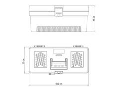 Caixa Plástica Tramontina para Ferramentas 17 Pol. C/Tampa Simples - 1