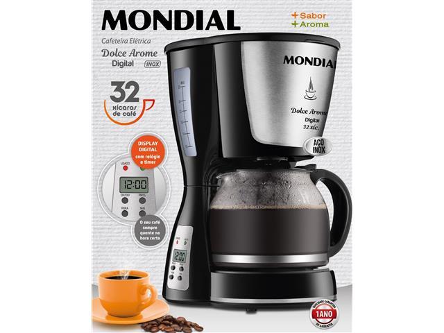 Cafeteira Elétrica Dolce Arome Digital 32 Xícaras Mondial 220V - 3