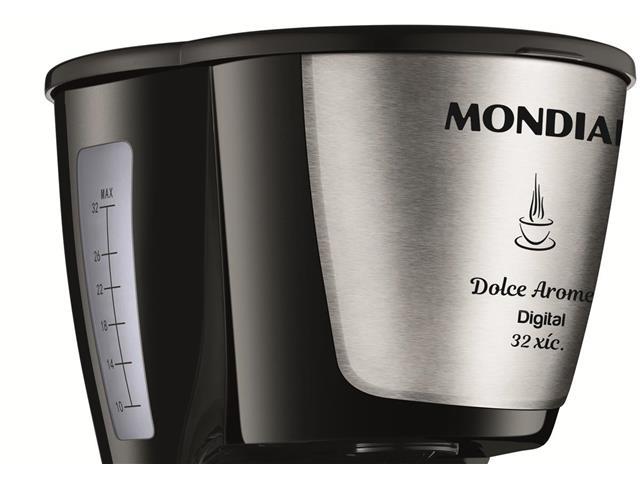 Cafeteira Elétrica Dolce Arome Digital 32 Xícaras Mondial 220V - 1