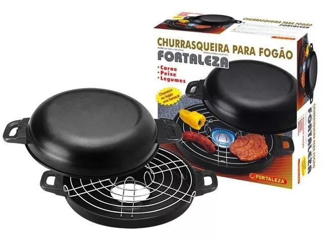 Churrasqueira Fortaleza 26cm c/ Cx Black - 2