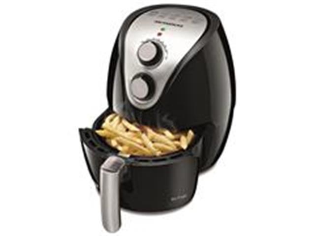 Fritadeira Sem Óleo Mondial Family Air Fryer 3,2L Preta e Inox II - 1
