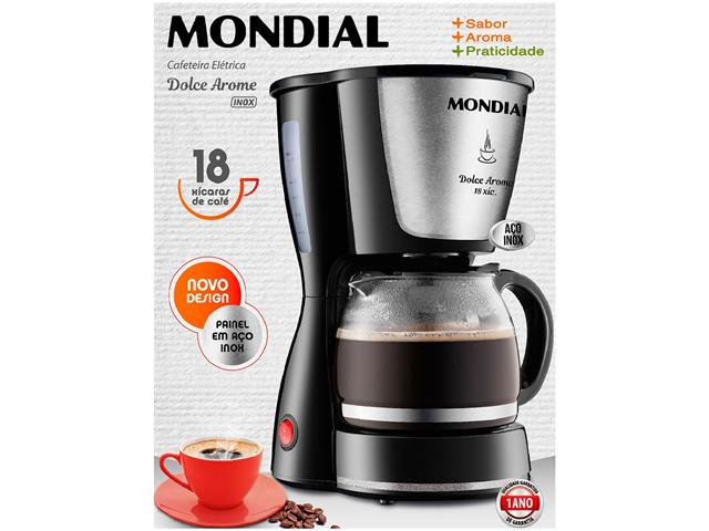 Cafeteira Elétrica Dolce Arome Inox 18 Xícaras Mondial - 1