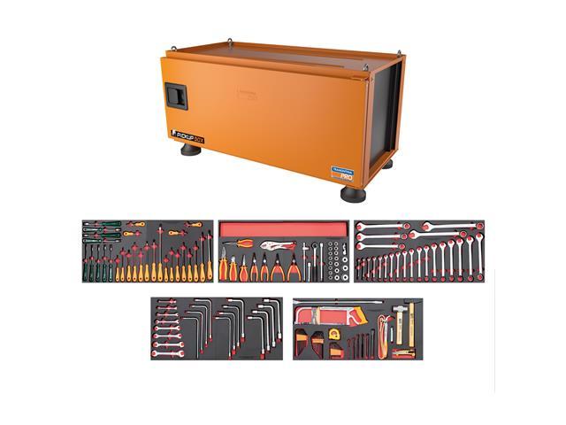 Caixa Ferramentas Pickup Box 50x100x50cm Tramontina PRO 145 Peças