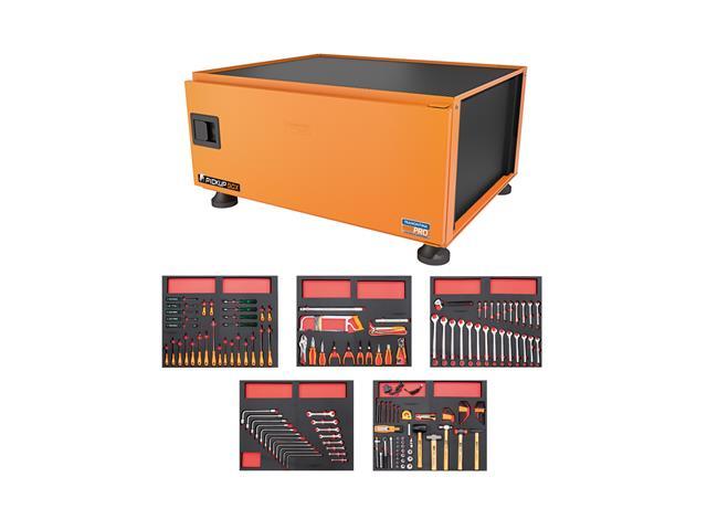 Caixa Ferramentas Pickup Box 84x100x50cm Tramontina PRO 153 Peças